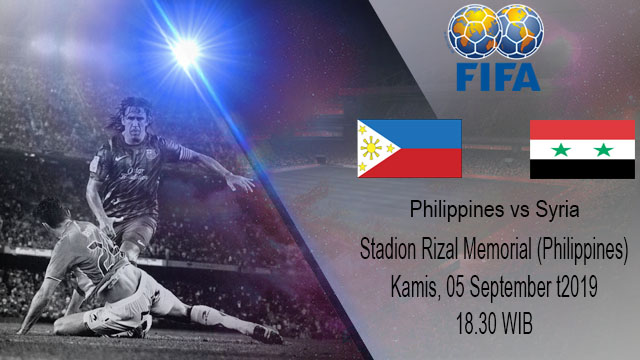 Prediksi Bola Philippines vs Syria 05 September 2019