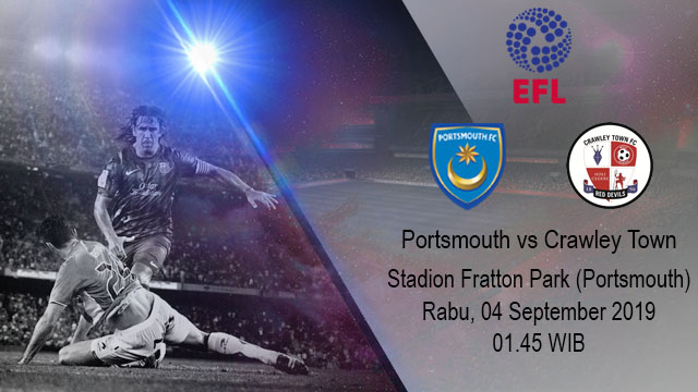 Prediksi Bola Portsmouth Vs Crawley Town 04 September 2019