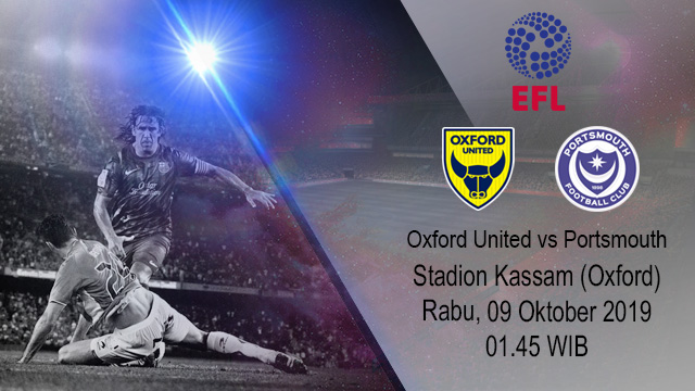 Prediksi Bola Oxford United vs Portsmouth 09 Oktober 2019