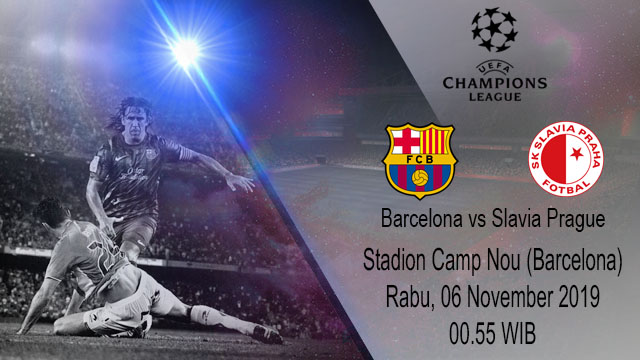 Prediksi Barcelona Vs Slavia Prague 06 November 2019