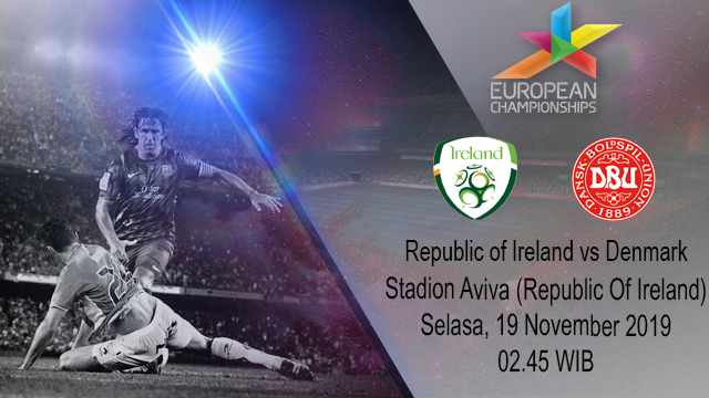 Prediksi Republic Of Ireland vs Denmark 19 November 2019