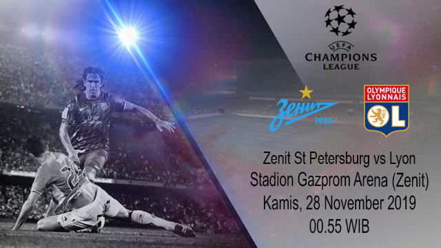Prediksi Zenit St. Petersburg Vs Lyon 28 November 2019