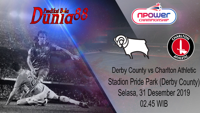 Prediksi Derby County vs Charlton Athletic 31 Desember 2019