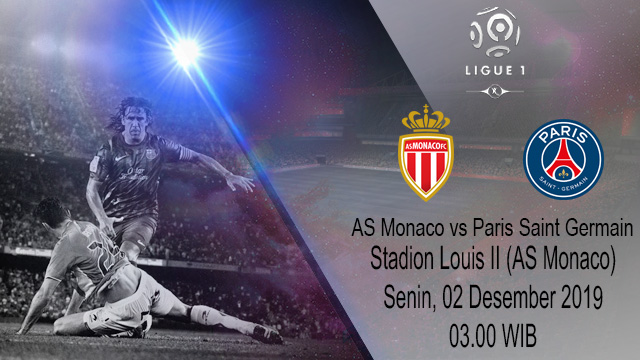 Prediksi Head AS Monaco Vs Paris Saint Germain 02 Desember 2019