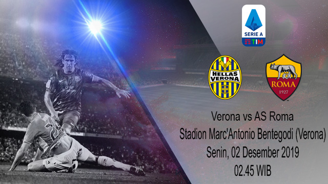 Prediksi Head Verona vs AS Roma 02 Desember 2019