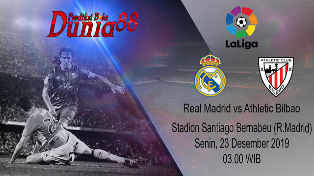 Prediksi Real Madrid vs Athletic Bilbao 23 Desember 2019